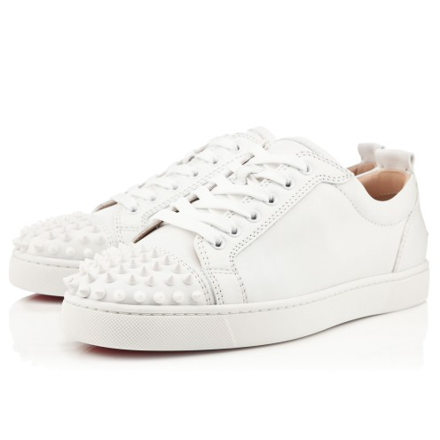 Men Shoes - Louis Junior Spikes Flat - Christian Louboutin