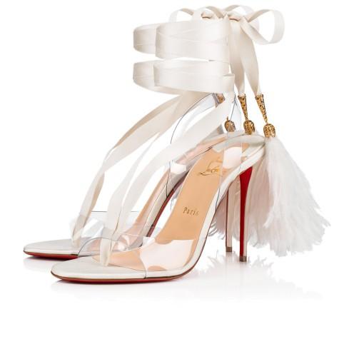鞋履 - Marie Edwina 100 Ostrich - Christian Louboutin