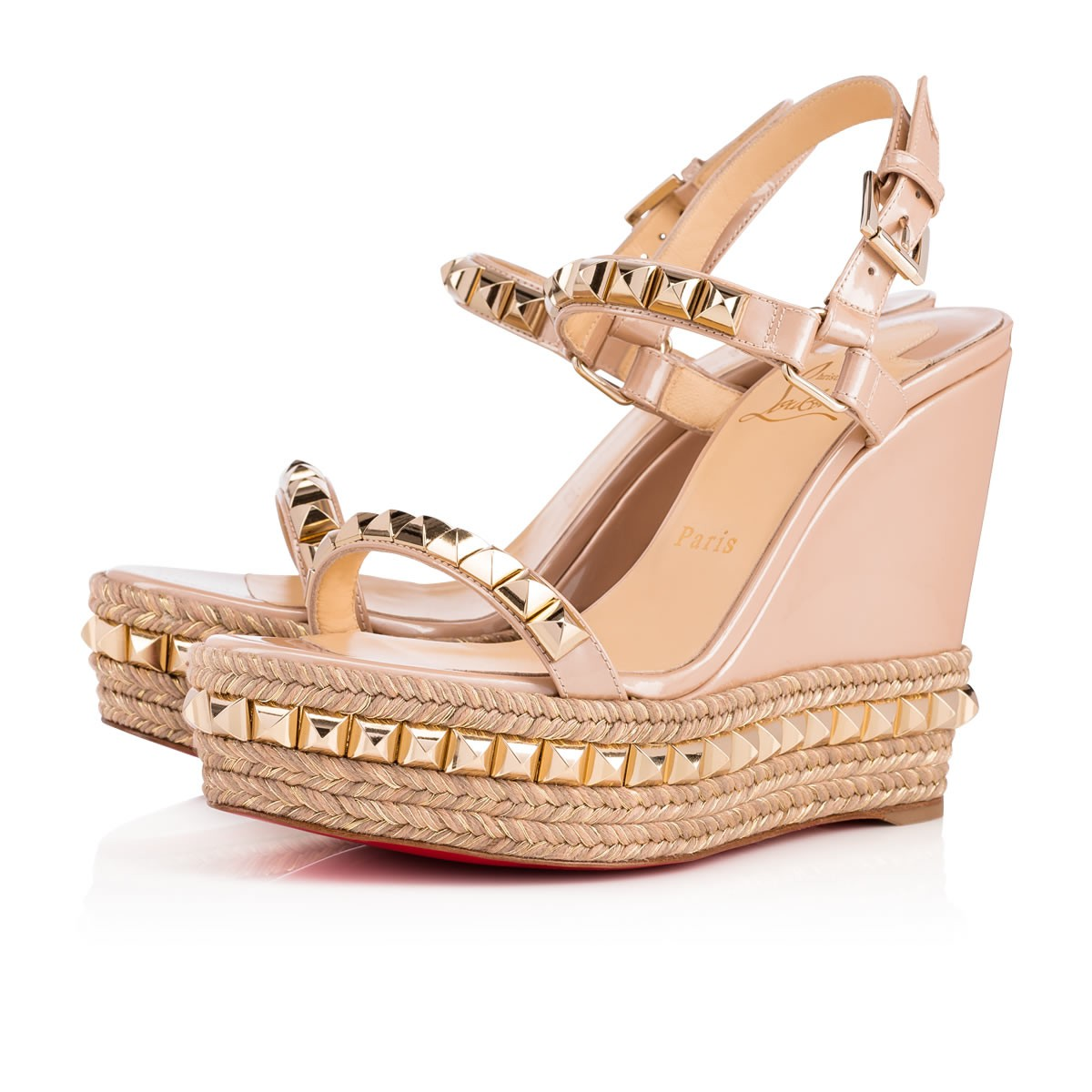 a1ed1b78a93 CATACLOU 120 NUDE LIGHT GOLD Patent - Women Shoes - Christian Louboutin