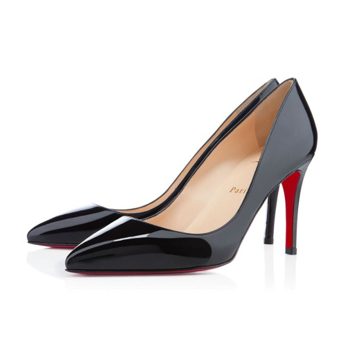 Pigalle 黑色漆皮中跟鞋
