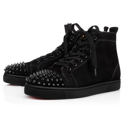 LOU SPIKES FLAT SUEDE