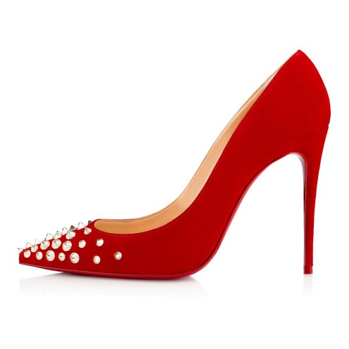 Women Shoes - Spikyshell 100 Veau Velours - Christian Louboutin_2