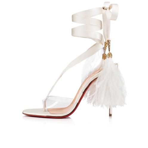 鞋履 - Marie Edwina 100 Ostrich - Christian Louboutin_2