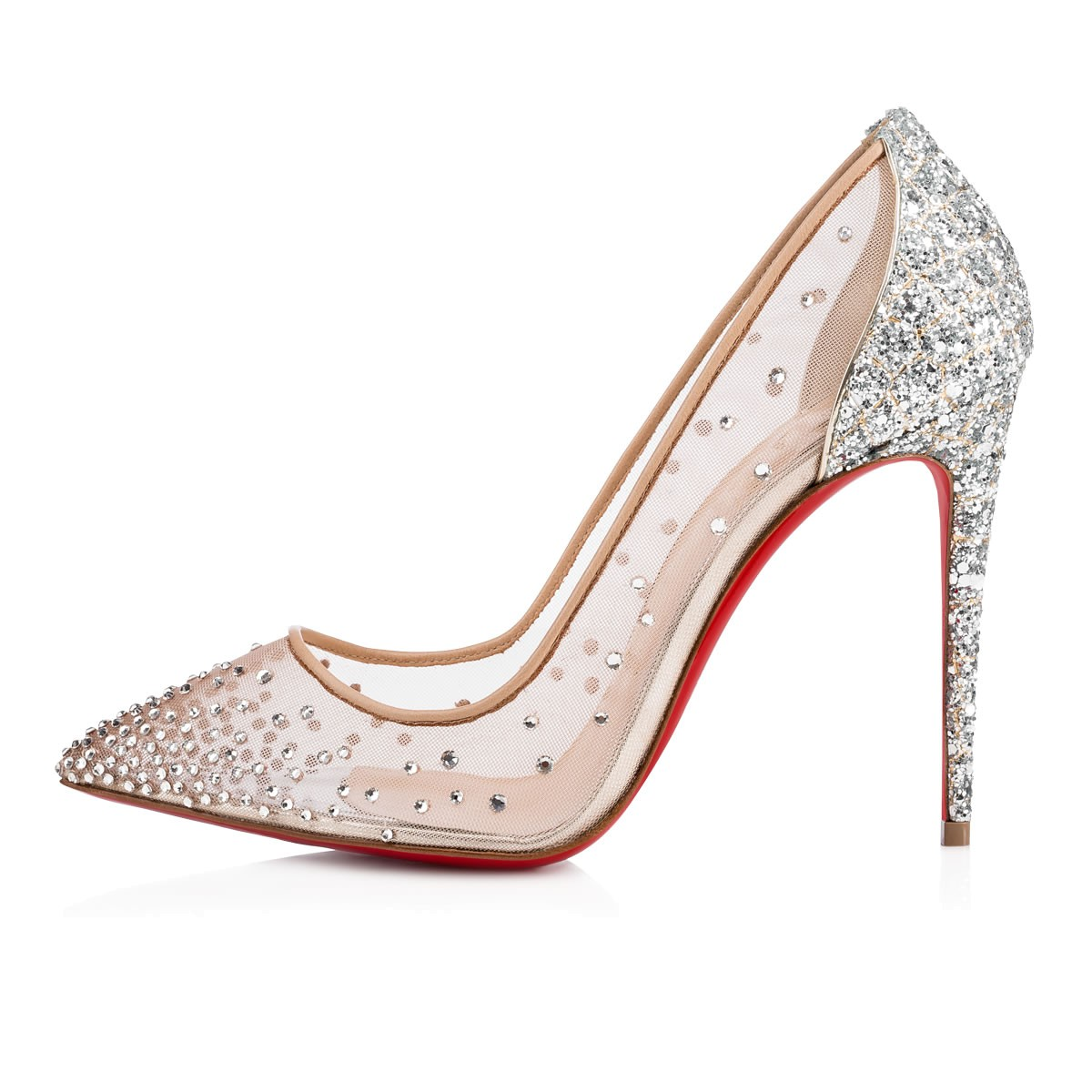 wholesale dealer 99a65 66703 FOLLIES STRASS 100 VERSION CRYSTAL Strass - Women Shoes - Christian  Louboutin