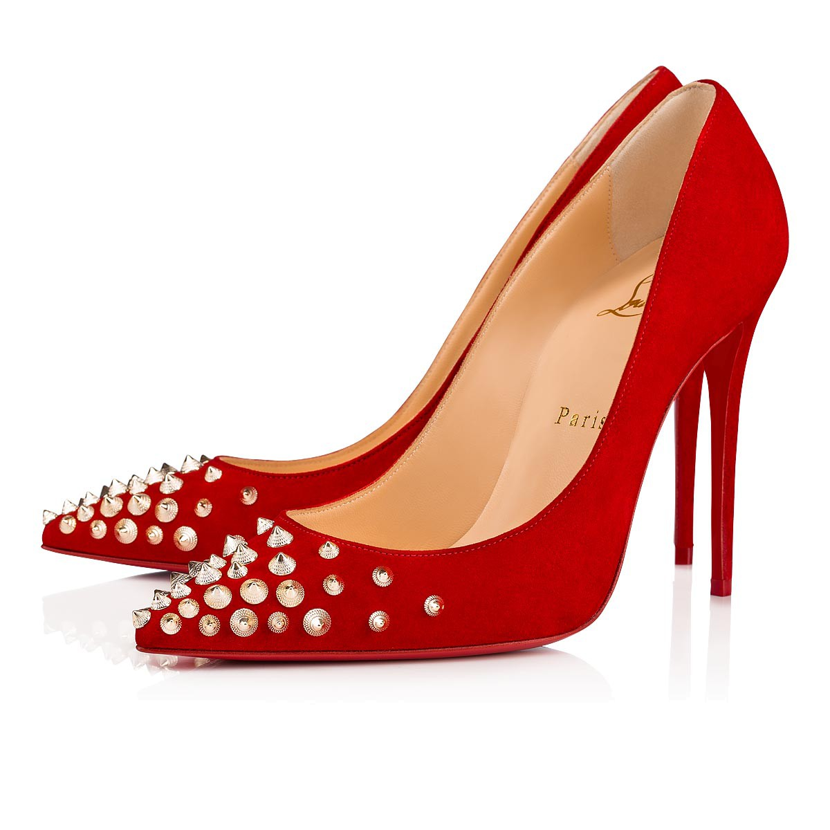 Women Shoes - Spikyshell Veau Velours - Christian Louboutin