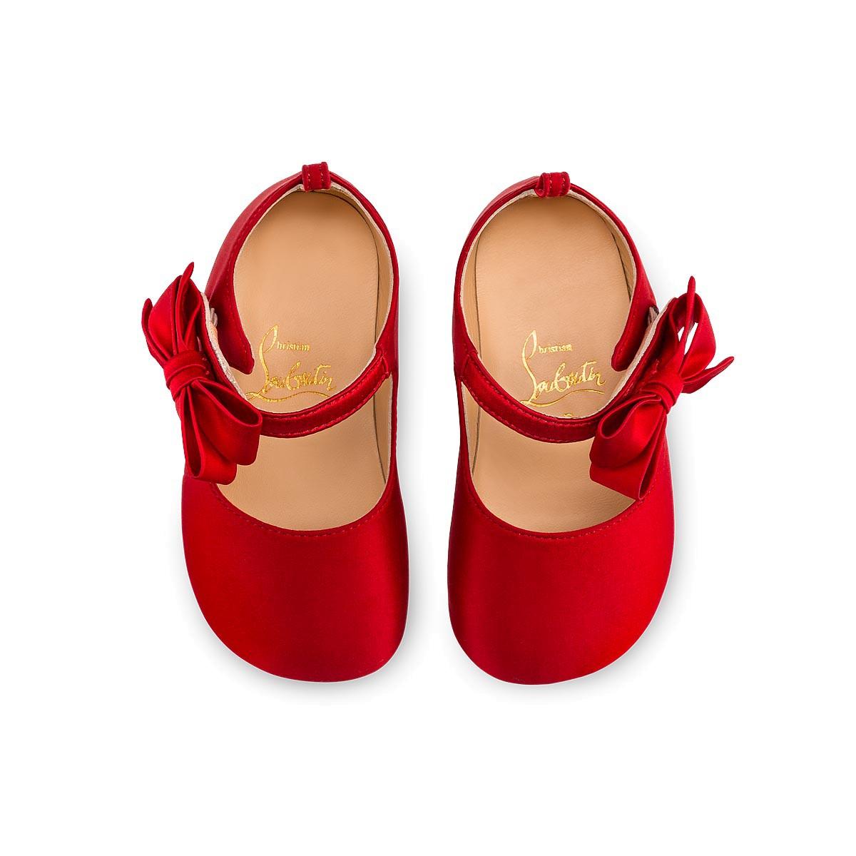 8676010ce8b Loubi Red Baby Shoes LOUBI Crepe satin Satin Lurex - Women Shoes ...