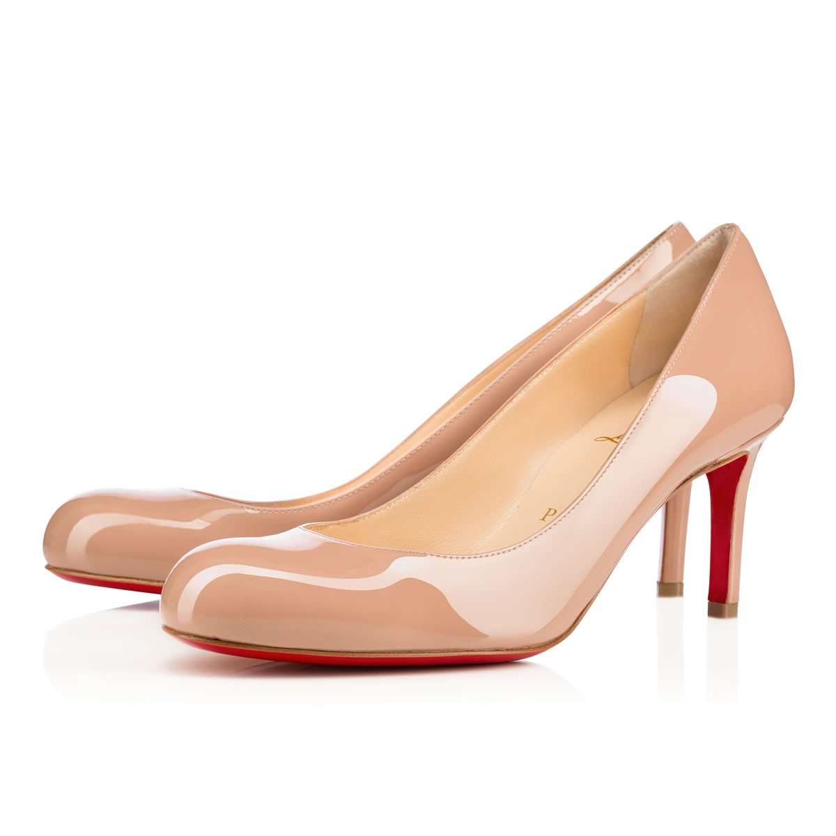 SIMPLE PUMP 70 NUDE Patent Leather - Women Shoes - Christian ... 9404b519b8