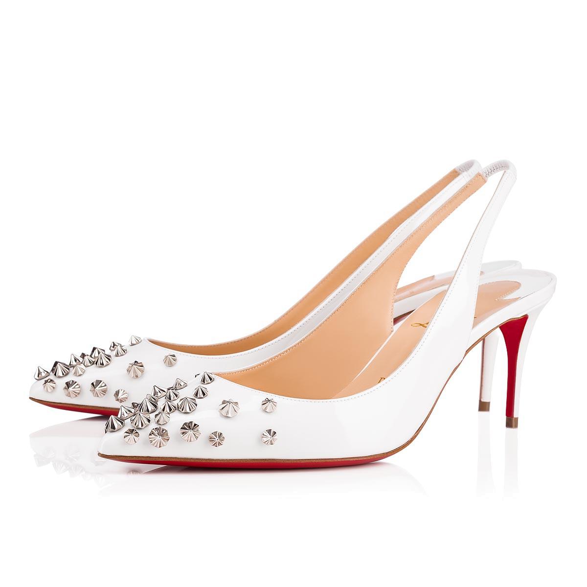 size 40 c03dc 85d8f DRAMA SLING 70 LATTE/SILVER Patent - Women Shoes - Christian Louboutin