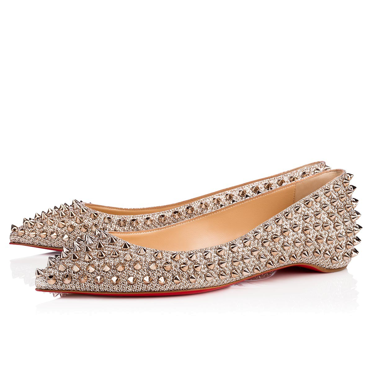 Women Shoes - Follies Spikes Flat Glitter - Christian Louboutin ... e4ab4c36b6fa