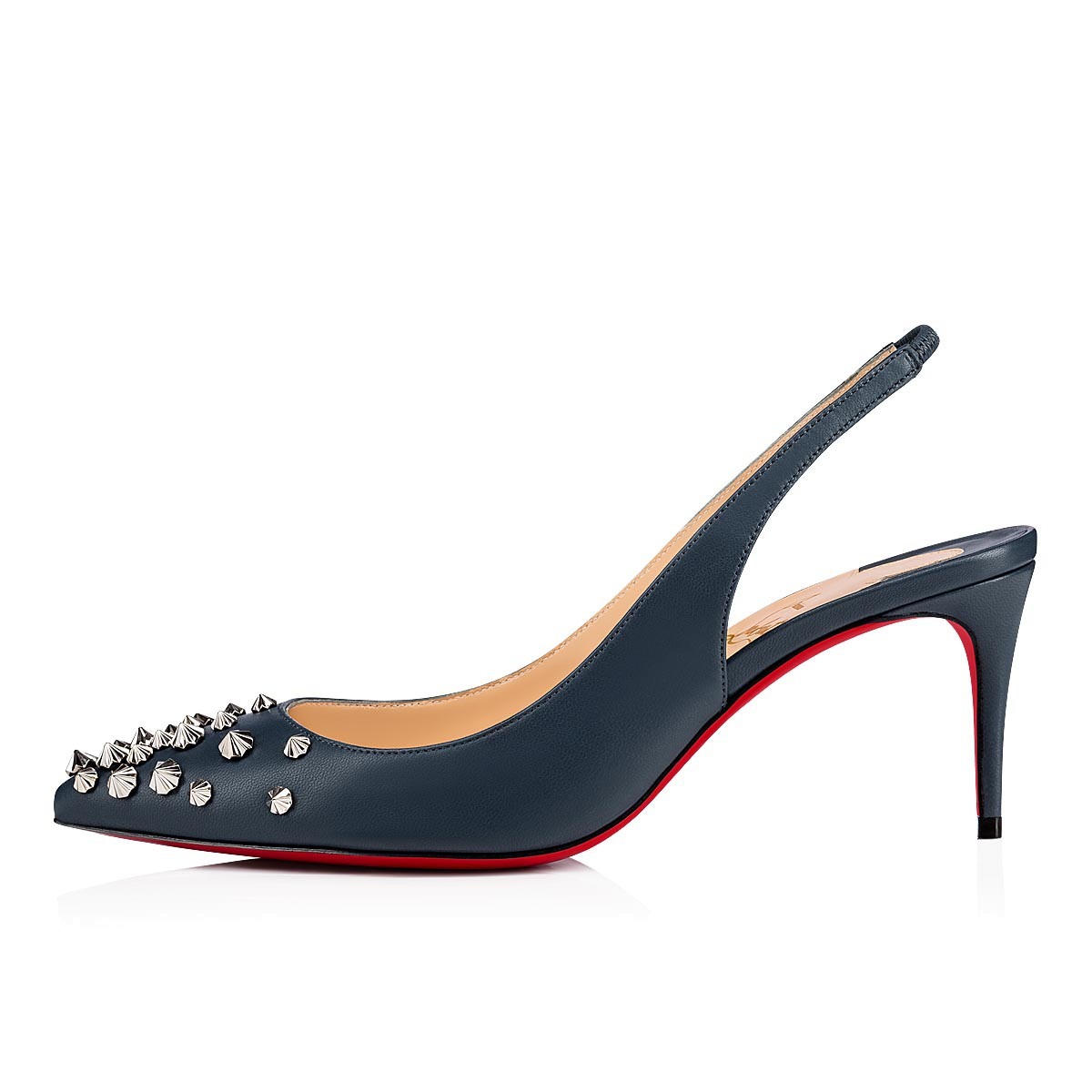 official photos 48258 4faca Drama Sling 70 DENIM/SILVER Nappa - Women Shoes - Christian Louboutin