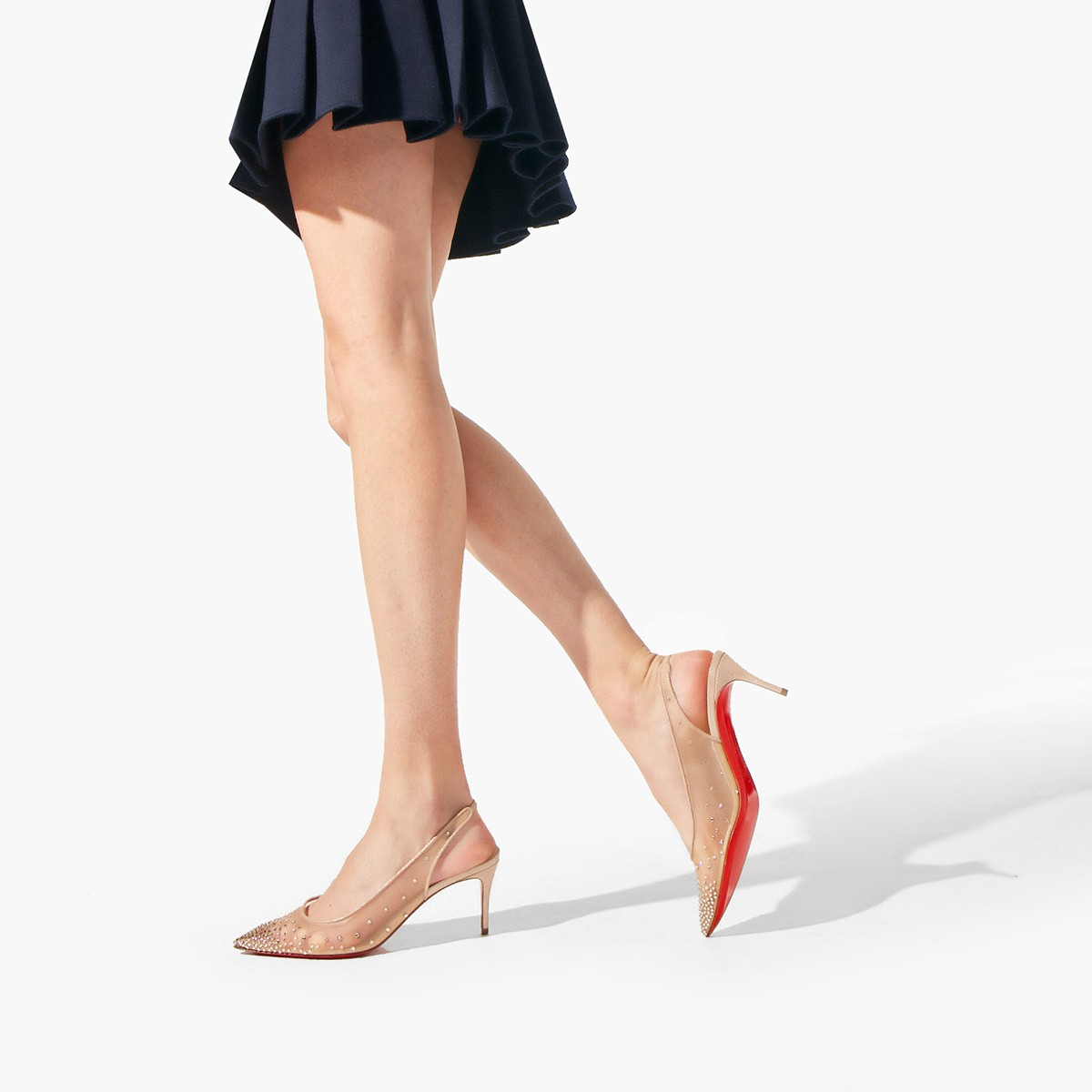 Shoes - Follies Strass Sling - Christian Louboutin